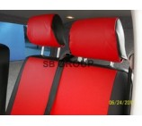 Peugeot Expert van seat covers red leatherette-made to measure